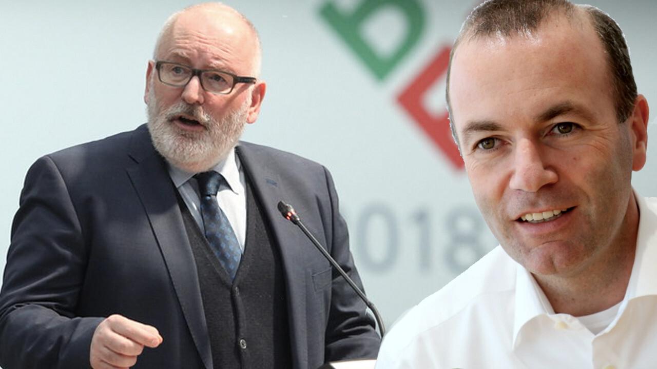 Debat tussen Spitzenkandidaten Timmermans en Weber maandag bij Nieuwsuur