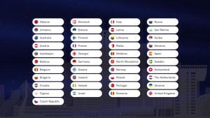 Deze 41 landen doen mee aan het Eurovisie Songfestival 2020