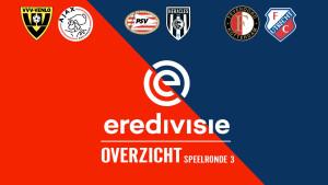 Eredivisie speelronde 3: Feyenoord op zoek naar eerste overwinning