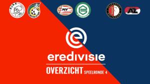 Eredivisie speelronde 4: De grote drie spelen niet