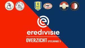 Eredivisie speelronde 5: Alle samenvattingen en hoogtepunten
