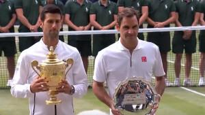 Kijkcijfers zondag: 1,1 miljoen mensen zien Djokovic van Federer winnen in Wimbledonfinale